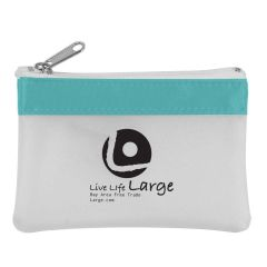 personalized zippered coin pouch