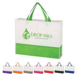 Dual Color Gusset Tote Bag