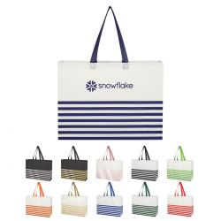 Striped Gusset Tote Bag