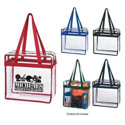 Clear Zippered Tote Bag