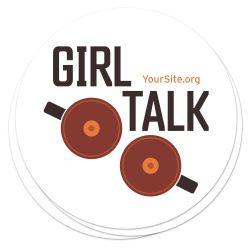 Girl Talk Breast Cancer Awareness Sticker