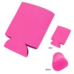 Custom Pink 3 Imprint Koozie Can Cooler