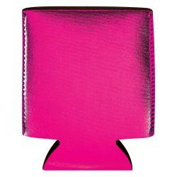 Custom Pink Metallic Koozie Can Cooler