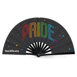Gay Pride Neon Snap Fan