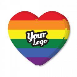 Pride Flag Heart Shaped Sticker