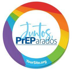 Juntos PrEParados Pride Sticker