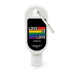 Gay Pride Love Is Love Sunscreen Carabiner - 1.8 oz