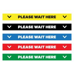 "Please Wait Here Floor Decal - 24"" X 4"""