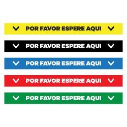 """Por Favor Espere Aqui Floor Decal - 24"""" X 4"""""""