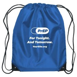 PrEP Tonight Drawstring Bag