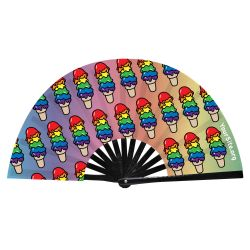 Pride Ice Cream Cone Snap Fan