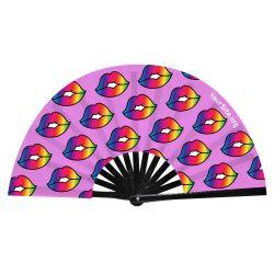 Pride Kiss Snap Fan