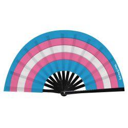 Trans Flag Snap Fan