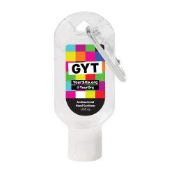 Hand Sanitizer Carabiner - 1.8 oz - Get Yourself Tested