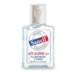 Hand Sanitizer .5 oz 63% Alcohol