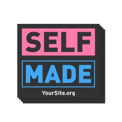 Self Made Transgender Awareness Sticker