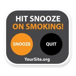 Snooze on Smoking Sticker