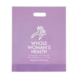 "Frosted Die Cut Bag 15"" X 18"" - WWH"